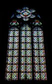 Stained Glass Window In The Notre Dame De Paris