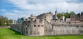 Well Known Old Vintage Huge Tower of London Building with Outer Curtain Wall