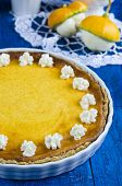 Pumpkin tart with ricotta