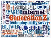 GenerationZ in word collage