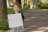 Little Girl With Whiteboard