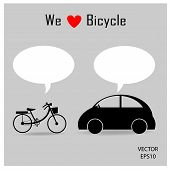 bicycle and car icons