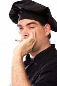 Male Chef In Black Smoking
