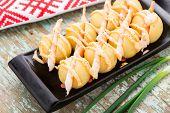 Potato gnocchi with shrimps
