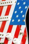 electric guitar American flag details 3