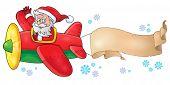 Santa Claus in plane theme image 6 - eps10 vector illustration.