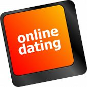 A Keyboard With A Online Dating Button - Social Concept