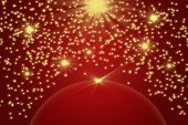 Christmas Background With The Golden Light And Stars