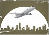 Airplane And Skyline