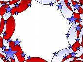Stars and stripes frame