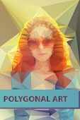 Abstract polygonal face. Triangles portrait for your design. Geometrical lines eps 10