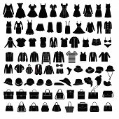 Men's And Women Clothes And Accessories  Fashion Elements - Illustration