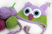 Colorful Knitting Owl Hat,  thread, Hook