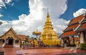 Buddhist temple named Wat Phra Kaew in Chiangrai province of Thailand