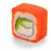 Red California Maki Japanese Roll