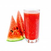 Juice watermelon in glass