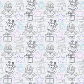 Vector abstract seamless Christmas pattern