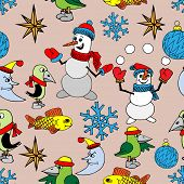 Merry Christmas background. Seamless texture.
