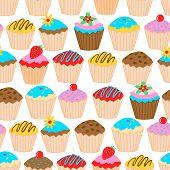 Little Cupcakes Seamless Pattern