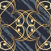 Seamless swirls retro pattern