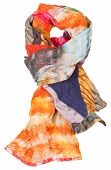 Knot From Patchwork And Batik Scarf Isolated