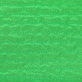 Green Color Textile Background From Stitched Silk