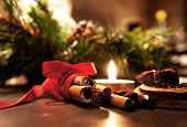 Beautiful Christmas Wreath With Candles