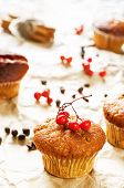 Muffins With Cinnamon And Chocolate Drops