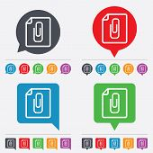 File annex icon. Paper clip symbol.