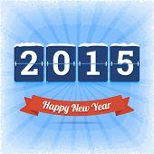 Happy New Year 2015 vector illustration.