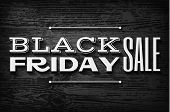 Black Friday Announcement On  Vector Wooden Background