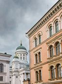 Helsinki Cathedral On Cloudy Day