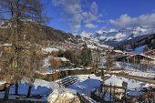 Le Grand-Bornand village, Alps, France