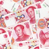 picture of yuan  - Chinese yuan banknotes - JPG