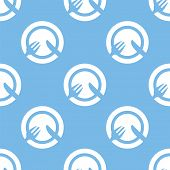 picture of lunch  - Lunch blue with white seamless pattern for web design - JPG