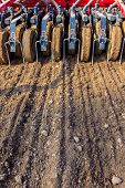 picture of plowing  - Sowing and plowing action in the spring season - JPG
