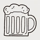 stock photo of drawing beer  - Doodle Beer - JPG