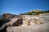 Ruins Of Ancient Roman Amphitheater Era In Tarragona, Spain