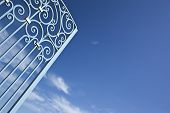 picture of bordeaux  - Opening gate of a winery od Saint - JPG