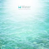 stock photo of  realistic  - vector realistic water background in turquoise color - JPG
