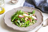 image of rocket salad  - Ouinoa with Asparagus - JPG