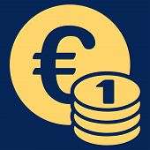 Постер, плакат: One euro coin stack icon from BiColor Euro Banking Set
