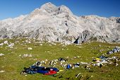 Bivouac In The Mountains,