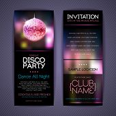 Постер, плакат: Disco Corporate Identity Templates Disco Background