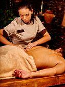 pic of panchakarma  - Man  having oil Ayurveda spa treatment - JPG