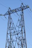 picture of power transmission lines  - supports of high - JPG