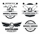 Постер, плакат: Bike club & service emblems