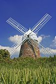 Windmill On Sunny Day