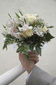 Wedding Bouquet In Hands.