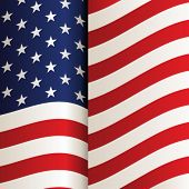 pic of usa flag  - vector USA flag - JPG